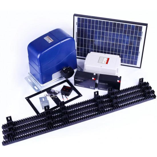 1000KG Auto Slide Sliding Gate Opener Automatic w Solar & 4m Rail