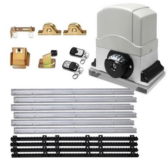 LockMaster Electric Sliding Gate Opener 1200KG With Hardware Kit 4M Rail