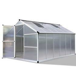 Green Fingers 3.6 x 2.5m Polycarbonate Aluminium Greenhouse