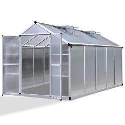 Green Fingers 3.1 x 2.5m Polycarbonate Aluminium Greenhouse