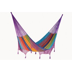 Deluxe Outdoor Cotton Mexican Hammock  in Colorina Colour