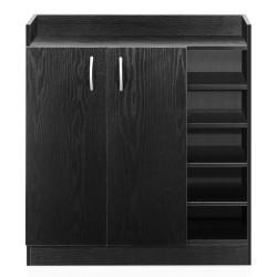 Artiss 2 Doors Shoe Cabinet Storage Cupboard - Black