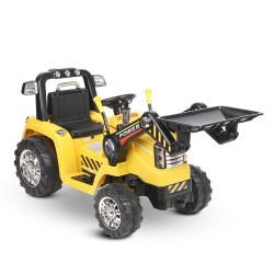 Rigo Kids Ride On Bulldozer Digger Electric Car Yellow