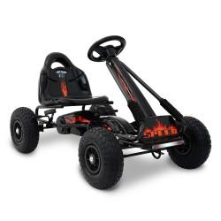 Rigo Kids Padel Powered Go Kart - Black