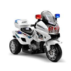 Rigo Kids Ride On Motorbike Motorcycle Car White