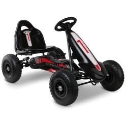 Rigo Kids Pedal Powered Go Kart - Black