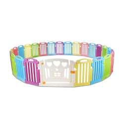 Cuddly Baby 25-Panel Plastic Baby Playpen Interactive Kids Safety Gate