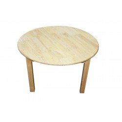 Rubberwood Round Table 90