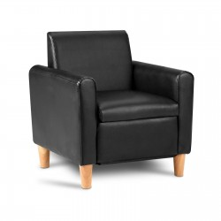 Artiss Kids PU Leather Armchair - Black