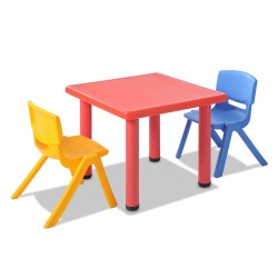 Keezi 3 Piece Kids Table and Chair Set - Red