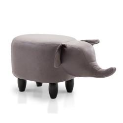 Artiss Kids Elephant Animal Stool - Grey