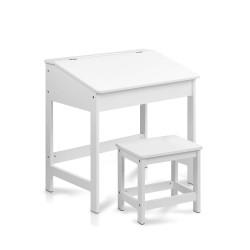 Artiss Kids Lift-Top Desk and Stool - White