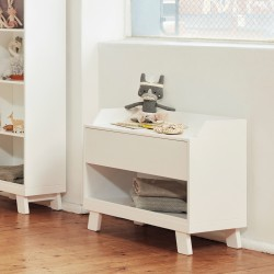 Casa Toy Box with Seat - White