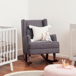 Novello Chair and Rocker - Pavement Grey