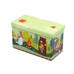 Kids Foldable Storage Toy Box - Light Green