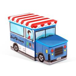 Kids Storage Toy Box Foldable Chest - Blue