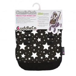 Cuddelco ComfiCush Pram Liner Black & White Stars
