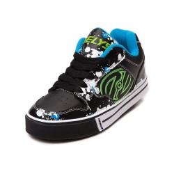 Heelys Motion Plus Unisex Kids Skate Roller Shoes Boys Girls Sneakers Black Green Blue US 8