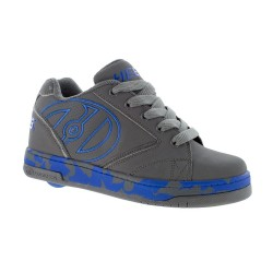 Heelys Propel 2.0 Grey Royal Confetti Kids Skate Roller Shoes Boys Girls Sneakers Toddler Blue Grey US 3