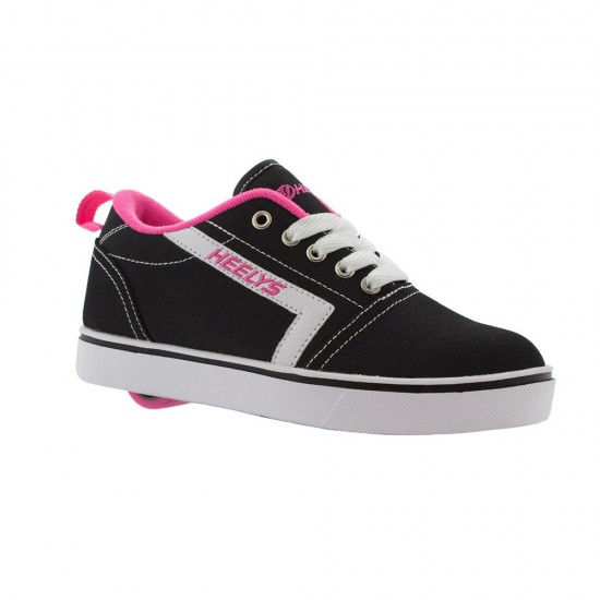Heelys GR8 Tennis Kid Wheel Skate Roller Shoes Sneaker Toddler Shoe Black Pink US13