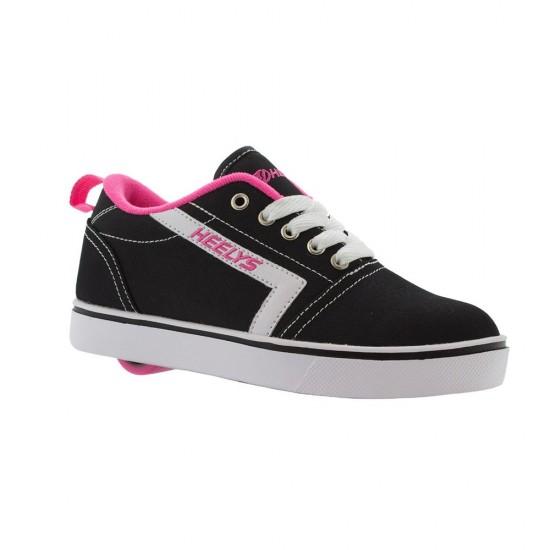 Heelys GR8 Tennis Kid Wheel Skate Roller Shoes Sneaker Toddler Shoe Black Pink US3