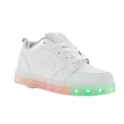 Heelys Premium 1LO Kids Skate Roller Shoes Sneaker Boys Girls LED Luminous White US4