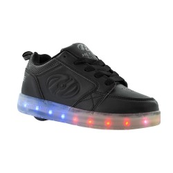 Heelys Premium 1LO Kids Skate Roller Shoes Sneaker Boys Girls LED Luminous Black US1