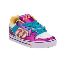 Heelys Motion Plus Kids Skate Roller Shoes Girls Sneakers Multi Colour Pink Blue