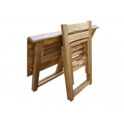 Hardwood Foldable Teen Desk Set (Acacia)