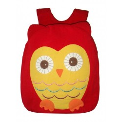 Hootie Owl Back Pack-Red