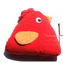 Chick Cuddling Cushion(15x18x35 Cm) Red