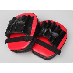 2 x Thai Boxing Punch Focus Gloves Kit Training Red & Black
