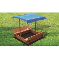 Kids Wooden Toy Sandpit with Canopy