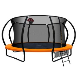Everfit 14FT Trampoline With Basketball Hoop - Orange