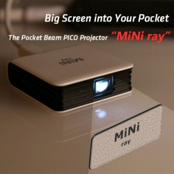 The Pocket Beam PICO Projector MiNi ray - Big Screen into Your Pocket  for PC, MAC , Android 5.0 or above