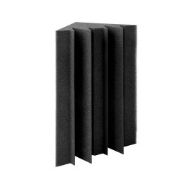 Set of 20 Corner Bass Acoustic Foam - Black