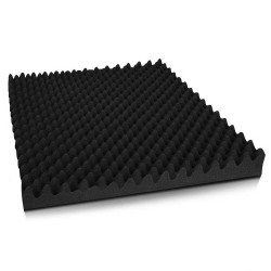 Set of 20 Eggshell Acoustic Foam - Black