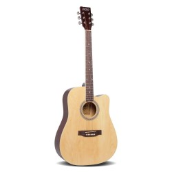 Alpha 41 Inch 5 Band Acoustic Guitar Full Size - Natural