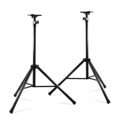 Set of 2 Adjustable 200CM Speaker Stand - Black