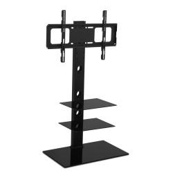 Artiss Floor TV Stand Brakcket Mount Swivel Height Adjustable 32 to 70 Inch Black