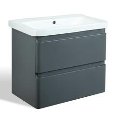 Cefito Ceramic Basin with Cabinet - Grey