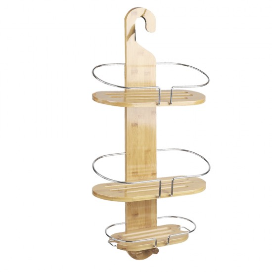 Artiss Bamboo Shower Caddy with Hanging Hook