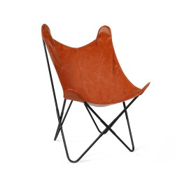 Artiss PU Leather Butterfly Chair - Brown