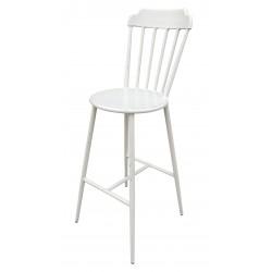 Aluminium Windsor Bar Chair Retro White Set of 2