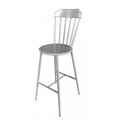 Aluminium Windsor Bar Chair Retro Grey Set of 2