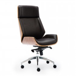 Wooden & PU Leather Desk / Computer / Office Chair / Rialto Executive Chair - Walnut