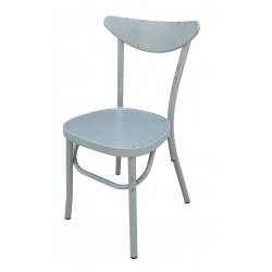 Aluminium Moon Back Chair Retro Grey Set of 2