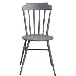 Aluminium Windsor Dinning Chair Retro Grey Set of 2