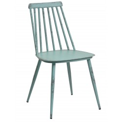 Aluminium Dinning Chair Retro Blue Set of 2