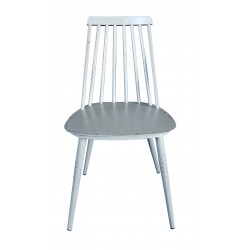 Aluminium Dinning Chair Retro Grey Set of 2